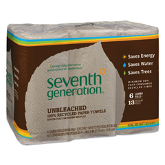SEV13737 - Natural 100% Unbleached Recycled Paper Towels