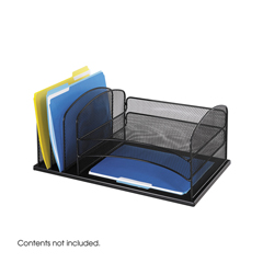 SFC3254BL - SafcoOnyx™ Desk Organizer With Three Horizontal And Three Upright Sections