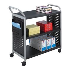 SFC5339BL - SafcoScoot™ 3 Shelf Utility Cart