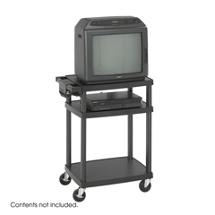 SFC8933BL - SafcoThree Shelf AV Cart