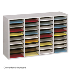 SFC9424GR - SafcoAdjustable Compartment Wood Literature Organizers