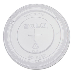 SLO668TS - Solo PETE Plastic Flat Straw-Slot Cold Cup Lids