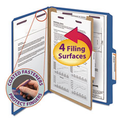 SMD13732 - Smead® 4-Section Pressboard Top Tab Classification Folders w/SafeSHIELD™ Coated Fastener