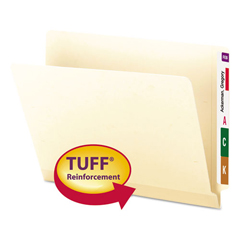 SMD24125 - Smead® TUFF® Laminated End Tab Folders with Shelf-Master® Reinforced Tab