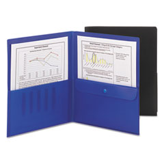 SMD87700 - Smead® Poly Two-Pocket Folders with Security Pocket