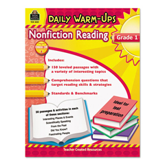 TCR5031 - Teacher Created Resources Daily Warm-ups: Nonfiction Reading