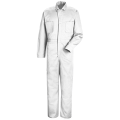 UNFCC16WH-RG-62 - Red KapMens Button-Front Cotton Coverall