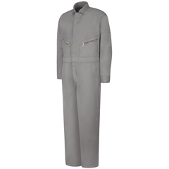 UNFCC18GY-RG-42 - Red KapMens Zip-Front Cotton Coverall