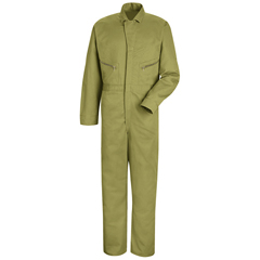 UNFCC18KH-LN-44 - Red KapMens Zip-Front Cotton Coverall