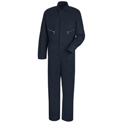 UNFCC18NV-LN-52 - Red KapMens Zip-Front Cotton Coverall