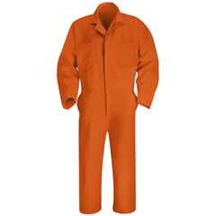UNFCT10OR-LN-44 - Red KapMens Twill Action Back Coverall