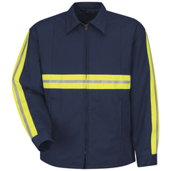 UNFJT50EN-RG-L - Red KapMens Enhanced Visibility Perma-Lined Panel Jacket