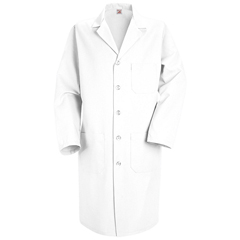 UNFKP14WH-RG-48 - Red KapMens Lab Coat
