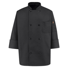 UNFKT76BK-RG-L - Chef DesignsMens 8 Pearl Button Chef Coat