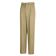 UNFPC46KH-44-36U - Red KapMens Pleated Front Cotton Pant