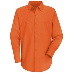 UNFSC30OR-RG-XL - Red KapMens Wrinkle-Resistant Cotton Work Shirt