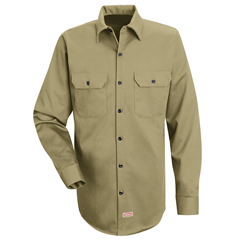 UNFSC70KH-RG-XL - Red KapMens Deluxe Heavyweight Cotton Shirt