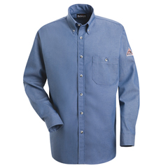 UNFSEG2LD-RG-S - BulwarkMens EXCEL FR® Denim Dress Shirt - 7 oz.