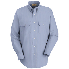 UNFSL50WB-LN-L - Red KapMens Deluxe Uniform Shirt