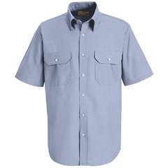UNFSL60WB-SS-S - Red KapMens Deluxe Uniform Shirt