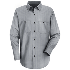 UNFSP10GI-LN-L - Red KapMens Industrial Stripe Work Shirt