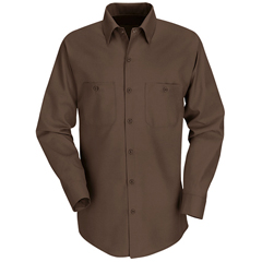 UNFSP14CB-RG-L - Red KapMens Industrial Work Shirt