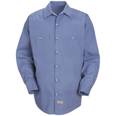 UNFSP14DN-LN-L - Red KapMens Geometric Micro-Check Work Shirt