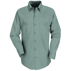 UNFSP14LG-RG-M - Red KapMens Industrial Work Shirt