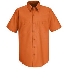 UNFSP24OR-SS-XL - Red KapMens Industrial Work Shirt