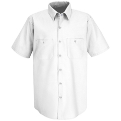 UNFSP24WH-SSL-L - Red KapMens Industrial Work Shirt