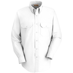 UNFSP50WH-L-323 - Red KapMens Solid Uniform Dress Shirt