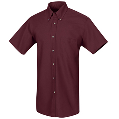 UNFSP80BY-SS-XL - Red KapMens Poplin Dress Shirt