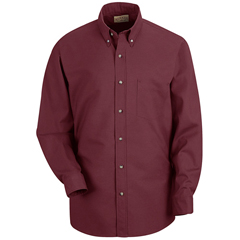 UNFSP90BY-M-345 - Red KapMens Poplin Dress Shirt