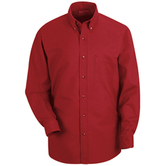 UNFSP90RD-L-323 - Red KapMens Poplin Dress Shirt
