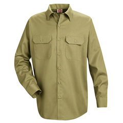 UNFST52KH-RG-S - Red KapMens Utility Uniform Shirt