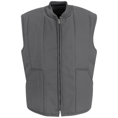 UNFVT22CH-RG-S - Red KapMens Quilted Vest