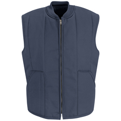 UNFVT22NV-RG-L - Red KapMens Quilted Vest