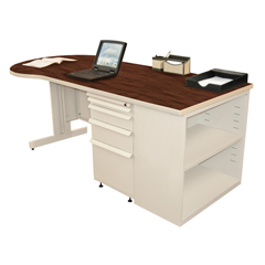 MLGZTCB7530_UT_FM - Marvel GroupTeachers Conference Desk w/Bookcase