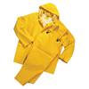 Anchor Brand Three-Piece Rainsuit, Jacket/Hood/Overalls, 0.35 mm PVC/Poly, Yellow, Large ANR 101-9000-L
