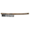 Anchor Brand Hand Scratch Brushes, 4 X 18 Rows, Carbon Steel Bristles, Curved Wood Handle ANR 102-385