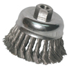 Anchor Brand Knot Wire Cup Brush, 3 1/2 In Dia., 5/8-11 Arbor, .02 In Carbon Steel ANR 102-35KC58