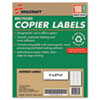Ability One AbilityOne™ Recycled Copier Labels NSN 0864518
