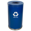 Witt Industries One Hole Large Indoor Recycling Container WIT 18RTBL-1H