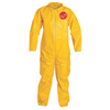 DuPont Tychem QC Coveralls, Open Wrists/Ankles, Serged Seams, Yellow, 2X-Large DUP 251-QC120S-2XL