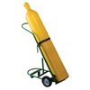 Saf-T-Cart Cylinder Racks, Holds 1 Cylinder, 8 In Semi-Pneumatic Wheels STC 339-250-2RC