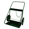 Saf-T-Cart 400 Series Cart, Holds 2 Cylinders, 9.5-12.5 Dia., 14 In Semi-Pneumatic Wheels STC 339-401-14