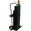 Saf-T-Cart 800 Series Carts, Holds 2 Cylinders, 8-9 1/2, 8 Semi-Pneumatic Wheels STC 339-820-8