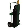 Saf-T-Cart 800 Series Carts, Holds 2 Cylinders, 8-9 1/2Dia., 10 Pneumatic Wheels STC 339-821-10