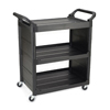 Janitorial Carts, Trucks, and Utility Carts: Three-Shelf Service Cart