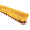cleaning chemicals, brushes, hand wipers, sponges, squeegees: Magnolia Brush - No. 19 Line Floor Brushes, 30 In Hardwood Block, 3 In Trim L, Yellow Plastic